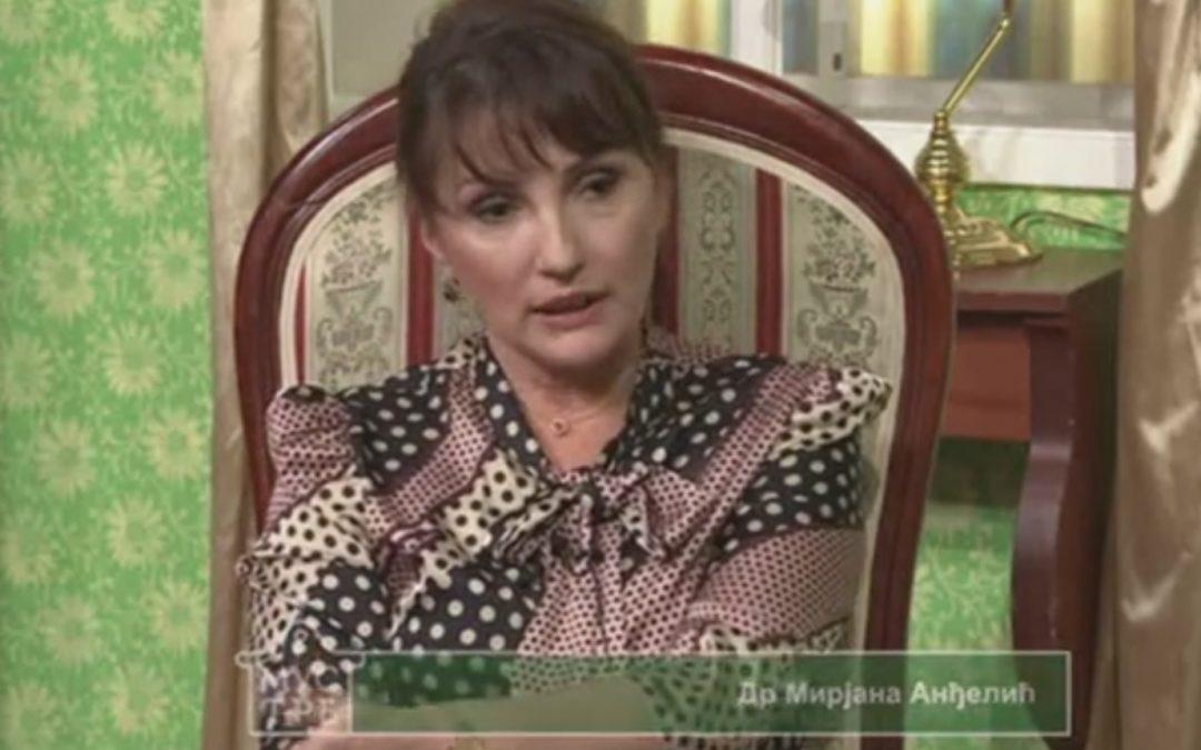 Dr Mirjana Anđelić – gost emisije Mustre. RTV Vojvodina. 31.01.2021. Tema – Medicinski koučing.