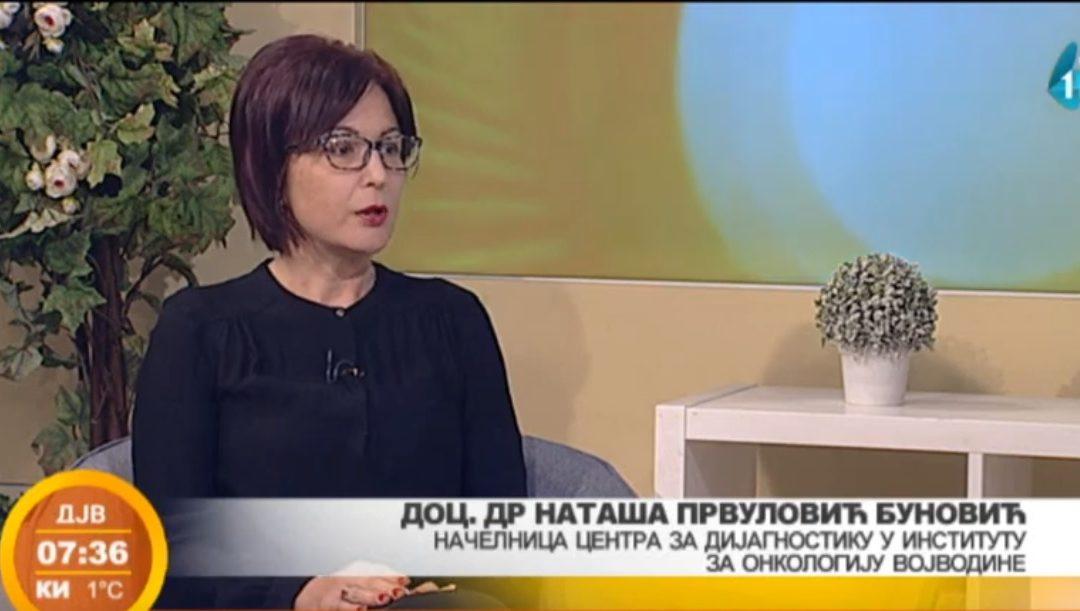 Konsultant ordinacije Anđelić Doc dr Nataša Prvulović Bunović oktobar mesec borbe protiv raka dojke. RTV Vojvodina – Dobro jutro Vojvodino.